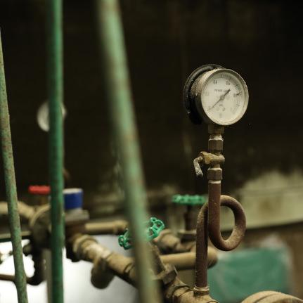 醸造蔵の機械